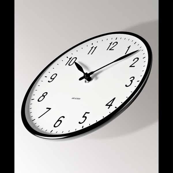 アルネヤコブセン・掛け時計 STATIONステーション 16cm ARNE JACOBSEN WallClock ROSENDAHL COPENHAGEN (ローゼンダール社 コペンハーゲン)