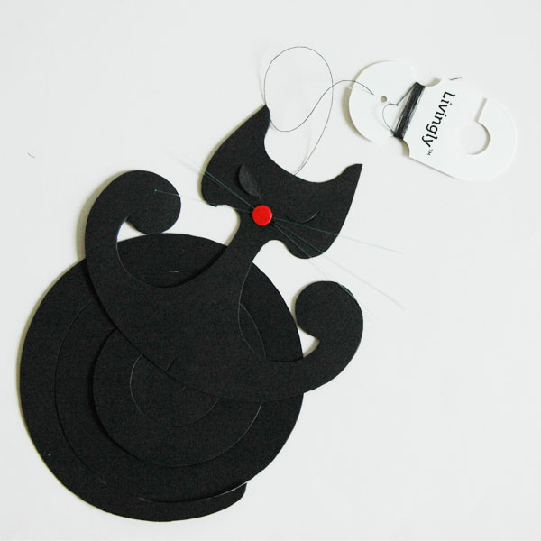 Spiral Cat Black・スパイラルキャット・モビール/Livingly(リビングリー)/北欧インテリア【販売終了】
