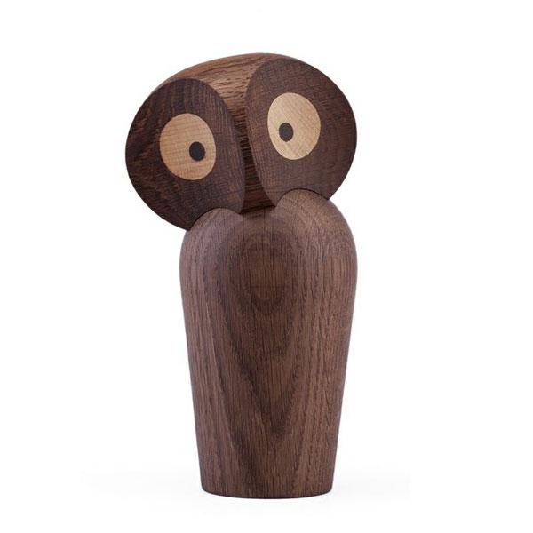 Owl(アウル)フクロウsmoked oak(スモーク)スモールサイズ ARCHITECTMADE(アーキテクメイド)デンマーク/北欧木製オブジェ・置物 465