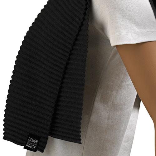 【予約10月】Pleece Long scarf(プリース・ロングスカーフ)マフラー ブラック DESIGN HOUSE stockholmデザインハウス・ストックホルム