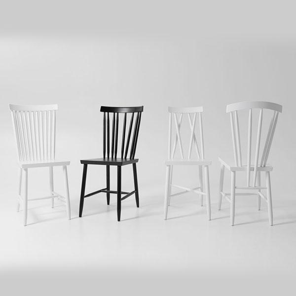 Family Chairホワイト「3」/DESIGN HOUSE stockholm(デザインハウスストックホルム)