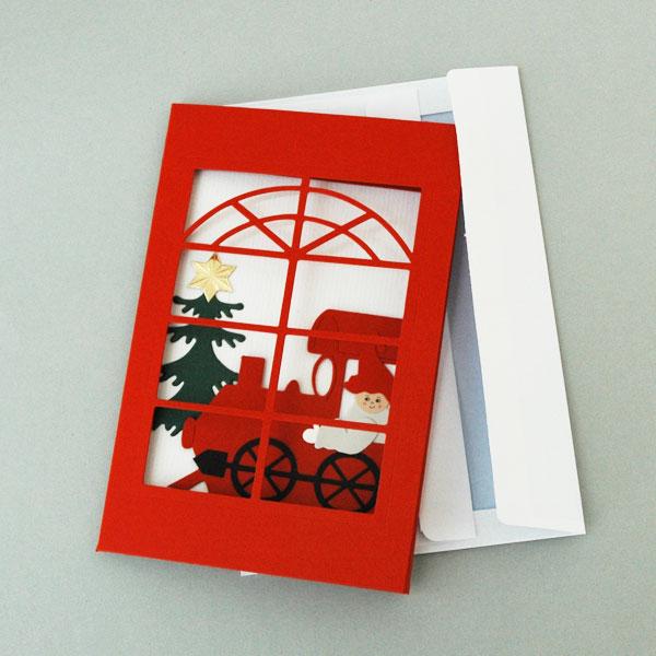 クリスマスカード/クリスマス・トレイン/Oda Wiedbrecht(オダ・ウィードブレクト)北欧デンマーク
