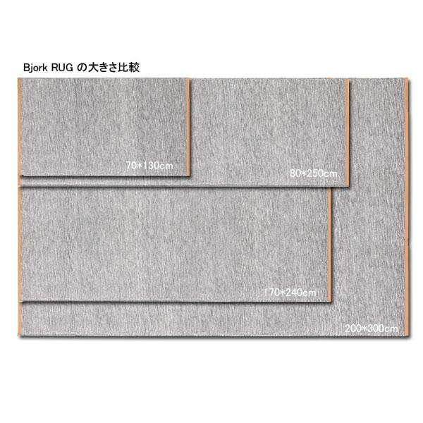 【販売終了】BJORK RUG(ビジョーク・ラグ)70×130cm/ライトグレー/DESIGN HOUSE stockholm(デザインハウス ストックホルム)