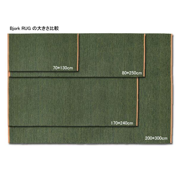 BJORK RUG(ビジョーク・ラグ)170×240cm/グリーン/DESIGN HOUSE stockholm(デザインハウス ストックホルム)