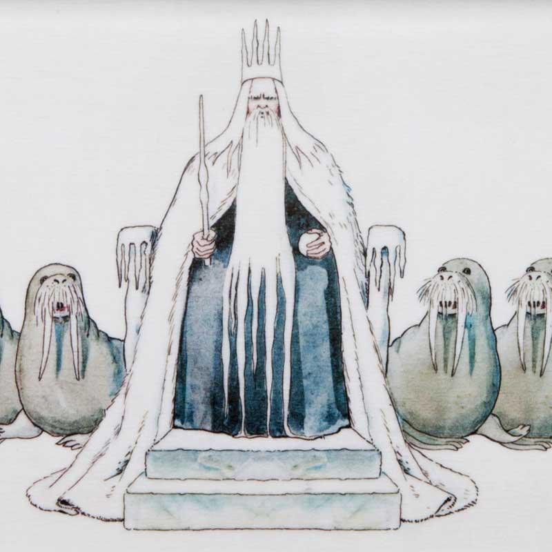 エルサべスコフ・トレイSサイズ 13×28cm King Winter(冬の王様)DESIGN HOUSE stockholm(デザインハウス ストックホルム)