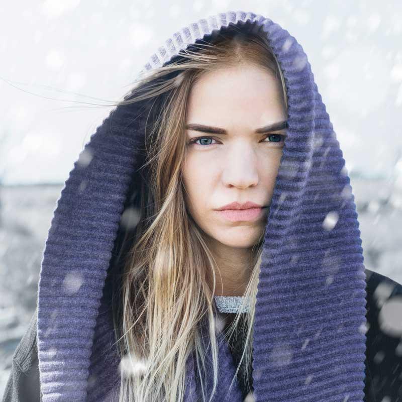 Pleece Long scarf(プリース・ロングスカーフ)マフラー ミッドナイトブルー DESIGN HOUSE stockholmデザインハウス・ストックホルム