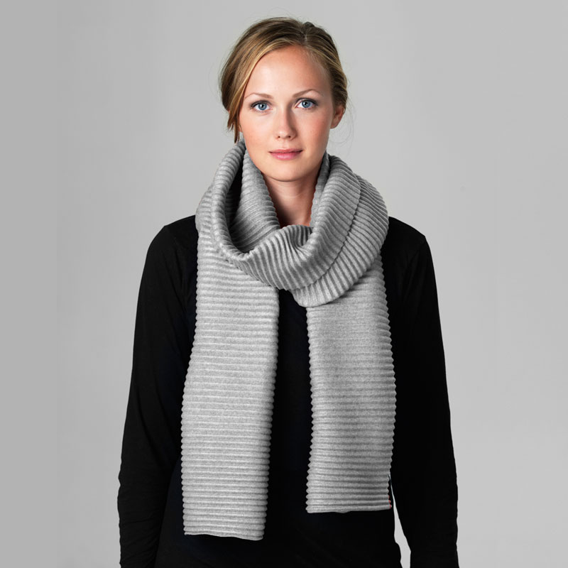 Pleece Long scarf(プリース・ロングスカーフ)ライトグレー DESIGN HOUSE stockholmデザインハウス・ストックホルム