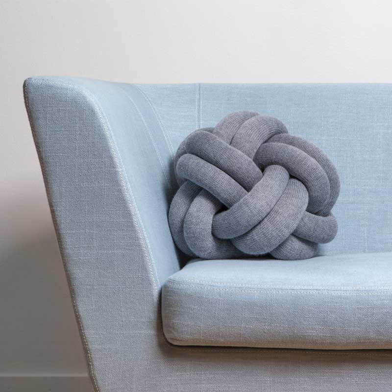 Knot Cushion(ノットクッション)30cm ブルー  DESIGN HOUSE stockholm(デザインハウス ストックホルム)