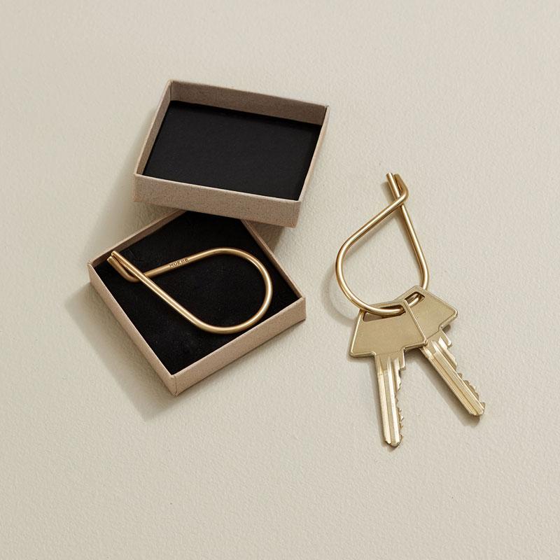 Key Ring(キーリング)Brass(ブラス)真鍮  MOEBE(ムーベ) デンマーク 北欧インテリア