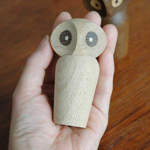 Owl(アウル)フクロウ・ミニサイズ ARCHITECTMADE(アーキテクメイド)デンマーク/北欧木製オブジェ・置物