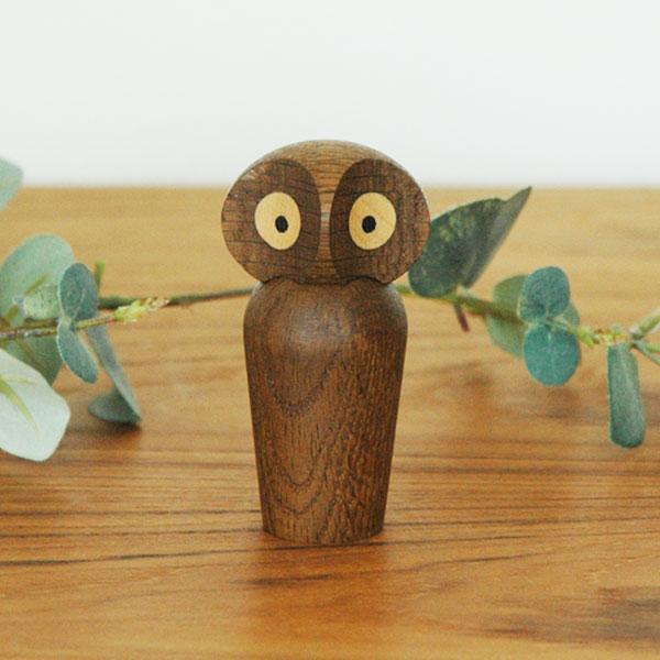 Owl(アウル)フクロウsmoked oak(スモーク)ミニサイズ ARCHITECTMADE(アーキテクメイド)デンマーク/北欧木製オブジェ・置物