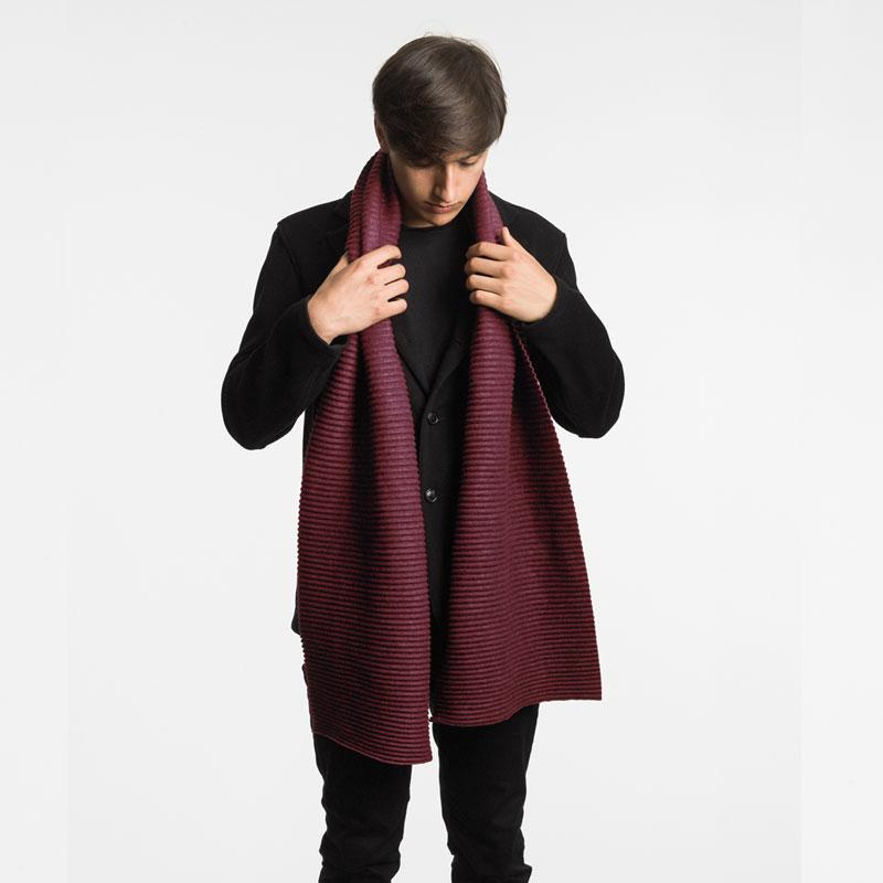 【新色】Pleece Long scarf(プリース・ロングスカーフ)マフラー ボルドー DESIGN HOUSE stockholmデザインハウス・ストックホルム