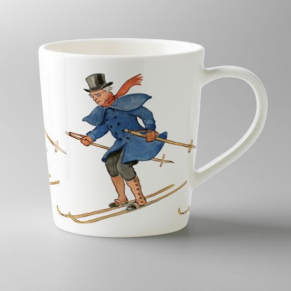 エルサべスコフ・マグカップUncle Blue Skiing(スキーをする青おじさん)DESIGN HOUSE stockholm(デザインハウス ストックホルム)