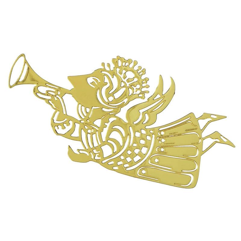 ビヨン・ヴィンブラッド ミュージックエンジェルゴールドプレート3枚セット・クリスマスオーナメント Wiinblad Christmas Music Angels Silhouettes gold plated北欧デンマーク 57047