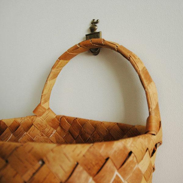 白樺バスケット・カゴWall Basket(ウォールバスケット)Lサイズ・北欧フィンランド製/Nadja shop(ナディアショップ)