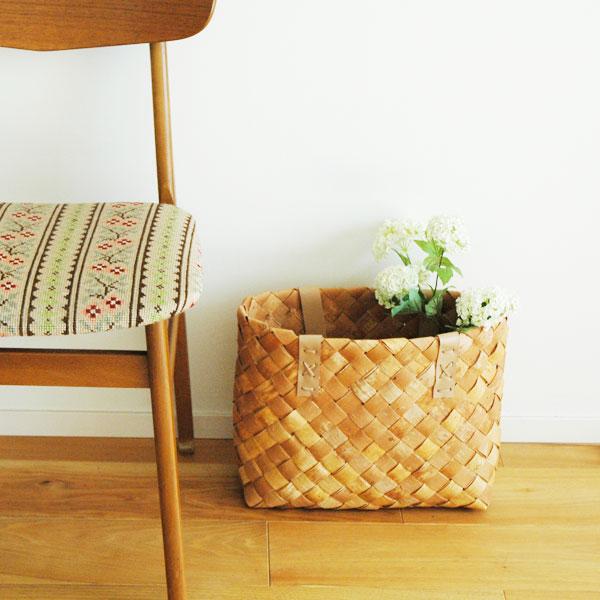 Shopping bag(ショッピングバッグ)Lサイズ・トートバッグ・白樺バスケット・北欧フィンランド製/Nadja shop(ナディアショップ)