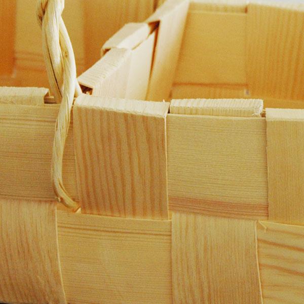 Mashroom Basket(マッシュルームバスケット)カゴ・持ち手付/松(パイン)/エストニア製/ハンドメイド
