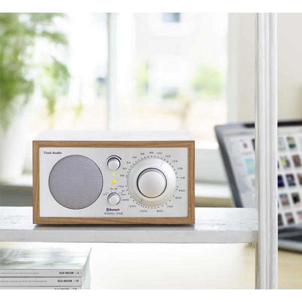 Model One BT(モデル・ワン ビーティー)Bluetooth対応モデル/チェリー×シルバー/ラジオ/Tivoli Audio(チボリオーディオ)