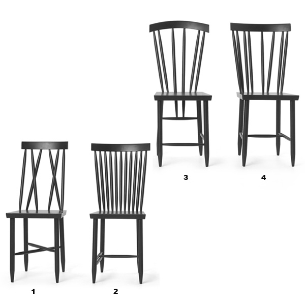 Family Chairブラック「2」/DESIGN HOUSE stockholm(デザインハウスストックホルム)