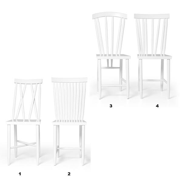 Family Chairホワイト「2」/DESIGN HOUSE stockholm(デザインハウスストックホルム)