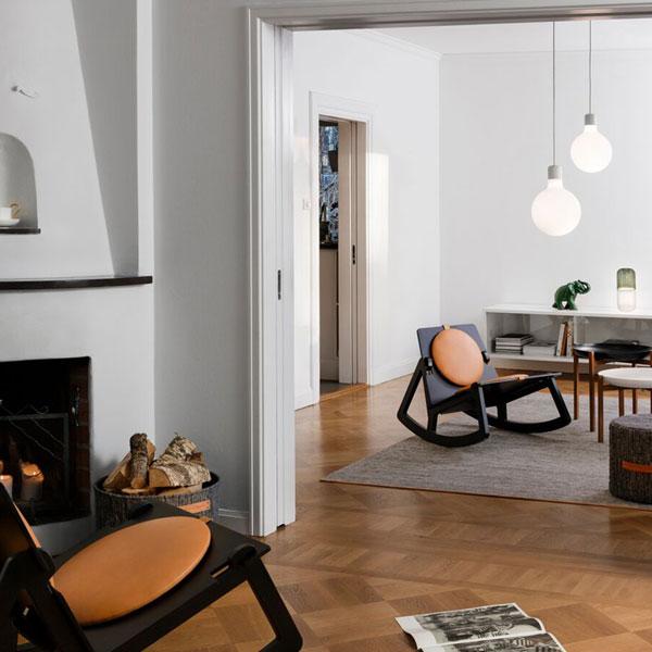 BJORK RUG(ビジョーク・ラグ)80×250cm/ブラウンブルー/DESIGN HOUSE stockholm(デザインハウス ストックホルム)