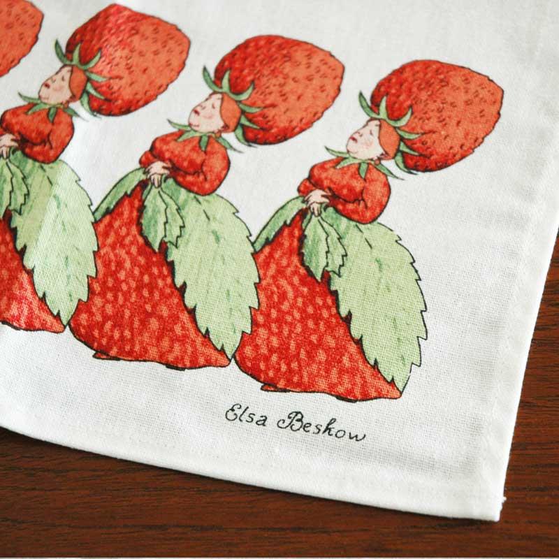 エルサべスコフ・キッチンタオル45×65cm/The Strawberry family(ストロベリーファミリー)・DESIGN HOUSE stockholm(デザインハウス ストックホルム)