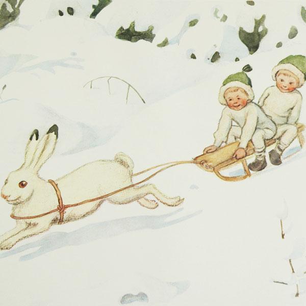 エルサべスコフ ラウンドトレイ丸型35cm Hare(野うさぎ)DESIGN HOUSE stockholm(デザインハウス ストックホルム)