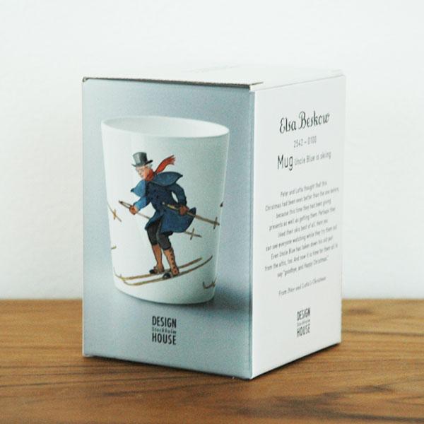 エルサべスコフ・カップ Uncle Blue Skiing(スキーをする青おじさん) DESIGN HOUSE stockholm(デザインハウス ストックホルム)