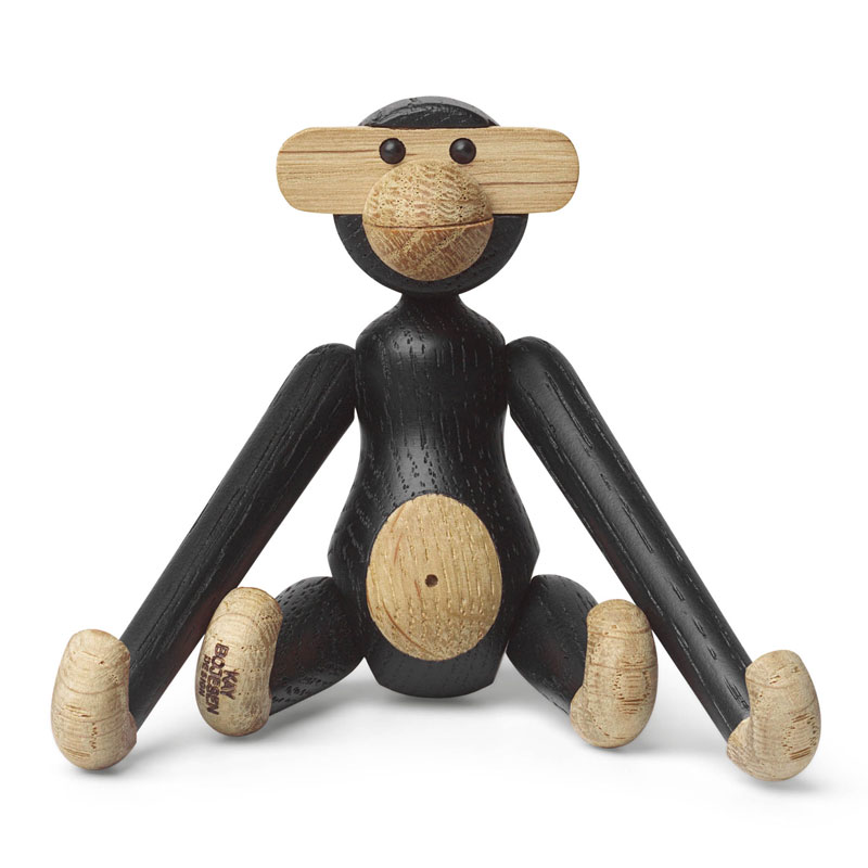 Kay Bojesen(カイ・ボイスン) MONKEY(モンキー)ミニサイズ ブラック  木製オブジェ デンマーク