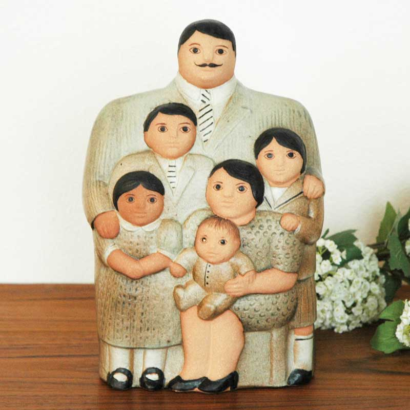 Family(ファミリー)ブラウン  Lisa Larson(リサラーソン) 置物 オブジェ