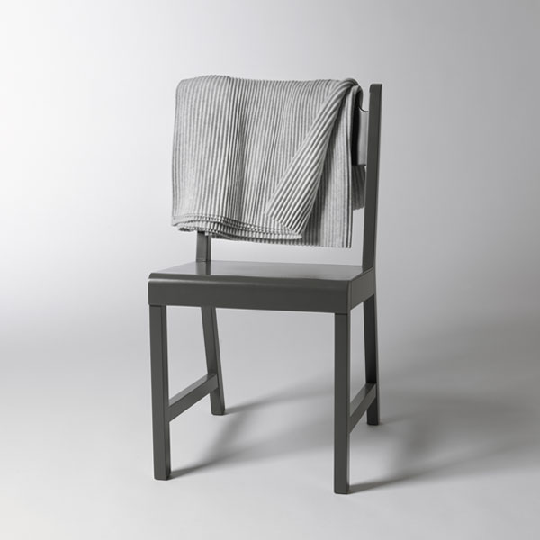 Pleece Throw(プリース・スロー)ライトグレー ひざ掛け DESIGN HOUSE stockholmデザインハウス・ストックホルム