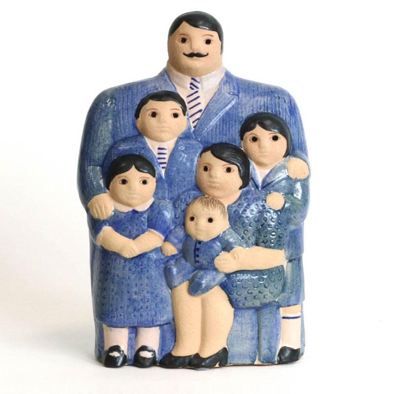 Family(ファミリー)ブルー  Lisa Larson(リサラーソン) 置物 オブジェ