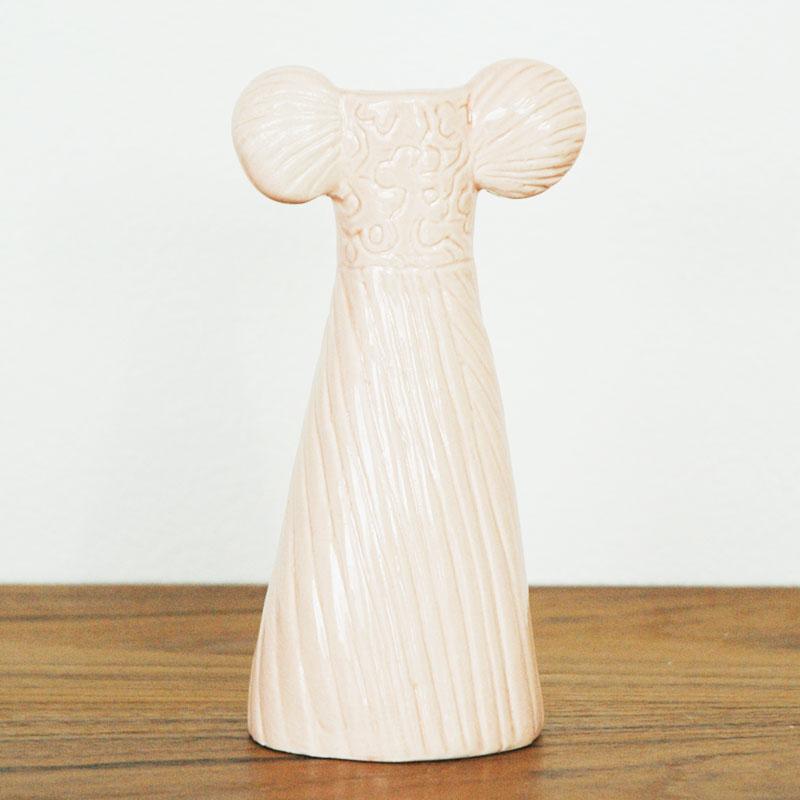 ドレスシスターズ・フレア  H15cm Lisa Larson(リサラーソン) フラワーベース 花瓶 オブジェ
