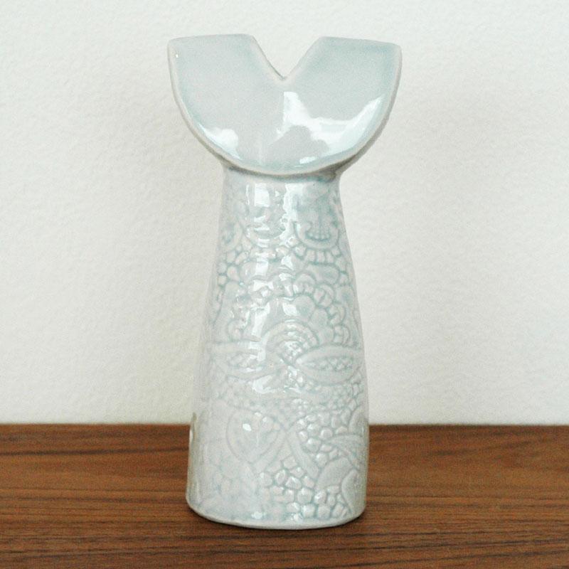ドレスシスターズ・リリー・ブルー  H16cm Lisa Larson(リサラーソン) フラワーベース 花瓶 オブジェ