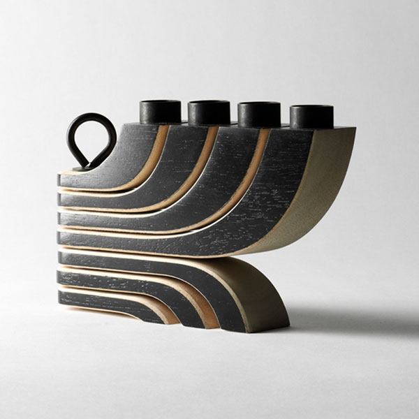 Nordic Light Candleholder 4arms black(ノルディックライトキャンドルホルダー)ブラックDESIGN HOUSE stockholm(デザインハウス ストックホルム)