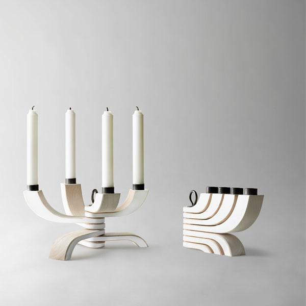 Nordic Light Candleholder 4arms white(ノルディックライトキャンドルホルダー)ホワイトDESIGN HOUSE stockholm(デザインハウス ストックホルム)