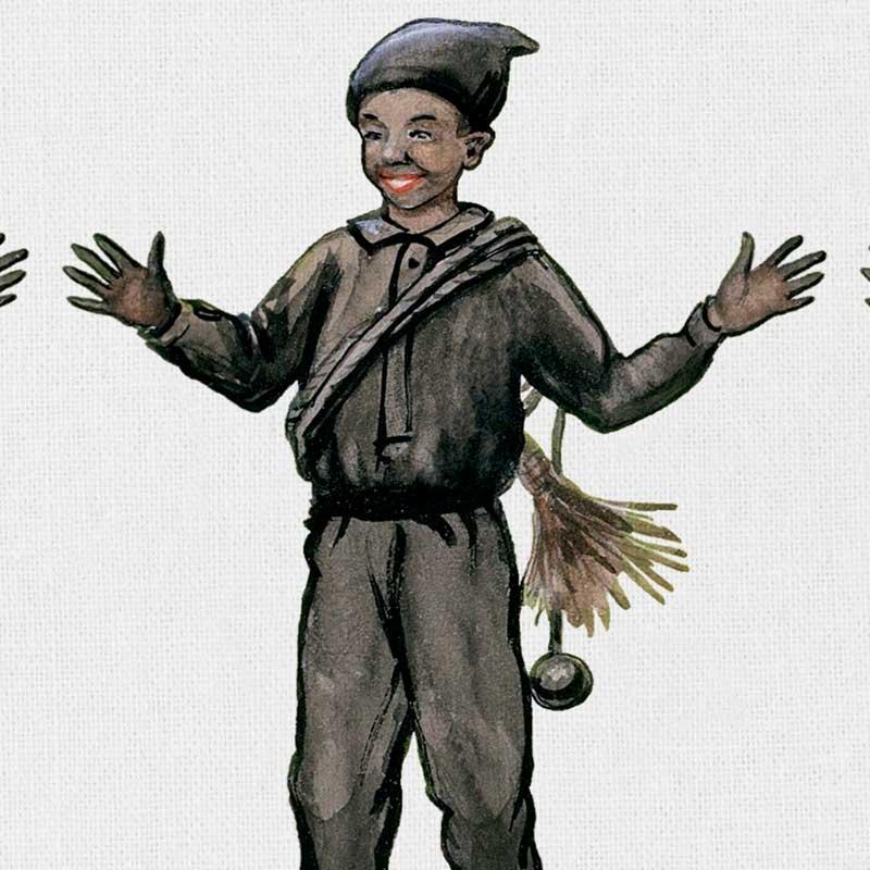 エルサべスコフ・キッチンタオル45×65cm Chimney Sweep(煙突掃除屋さん)DESIGN HOUSE stockholm(デザインハウス ストックホルム)