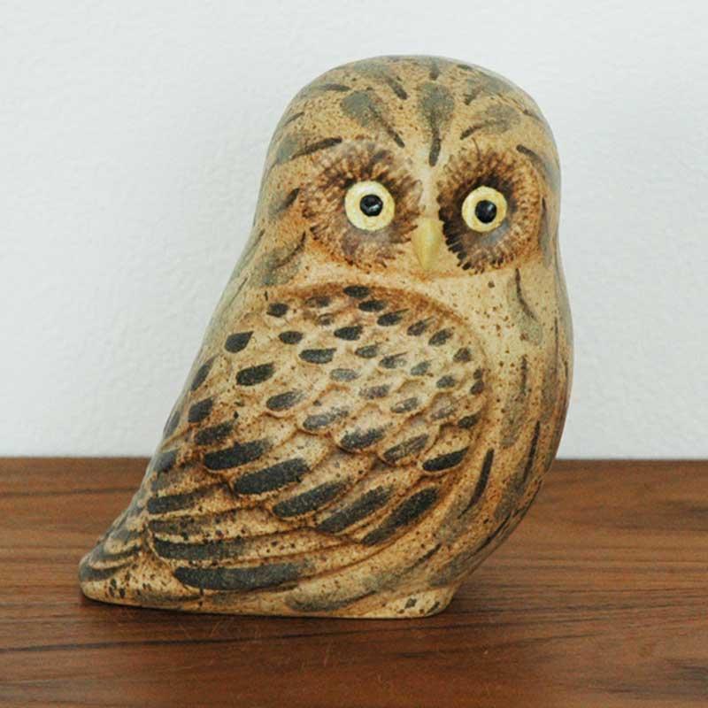 OWL フクロウ  Lisa Larson(リサラーソン) 置物 オブジェ
