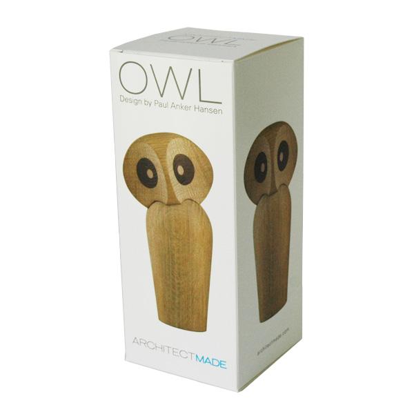 Owl(アウル)フクロウ ナチュラルオーク ARCHITECTMADE(アーキテクメイド) デンマーク 北欧木製オブジェ 置物 470