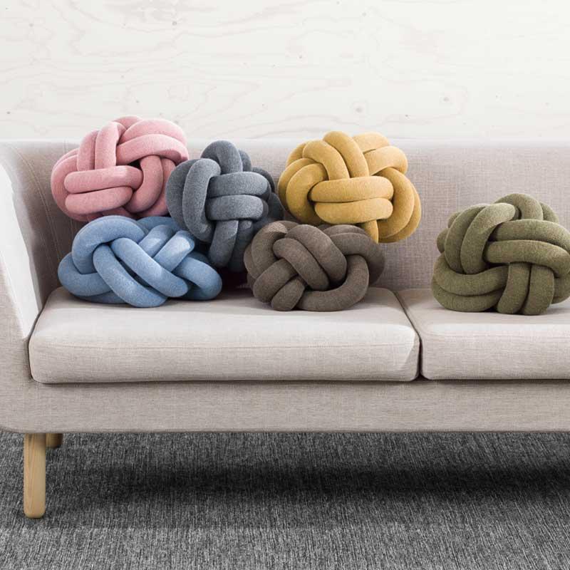 Knot Cushion(ノットクッション)30cm イエロー  DESIGN HOUSE stockholm(デザインハウス ストックホルム)