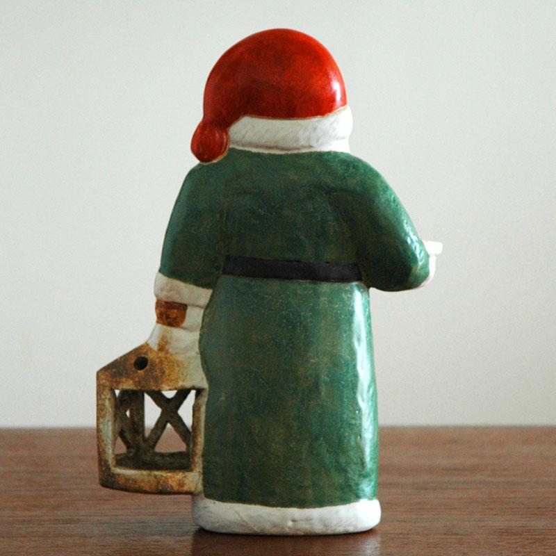 Santa Tomte(サンタ・トムテ)サンタクロース Lisa Larson(リサ ラーソン) キャンドルホルダー 北欧オブジェ・置物