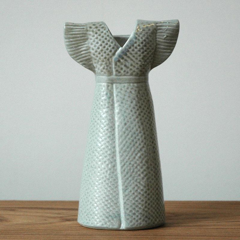 Wardrobe Vases Dress(ワードローブ・ドレス)グレー Lisa Larson(リサラーソン) フラワーベース オブジェ