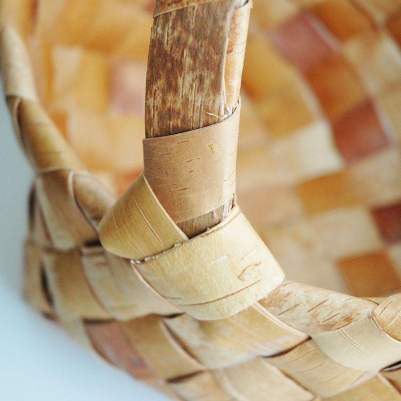 白樺バスケット・カゴ/tuohikori(トゥオヒコリ)ラージサイズ・北欧フィンランド製/Nadia shop(ナディアショップ)