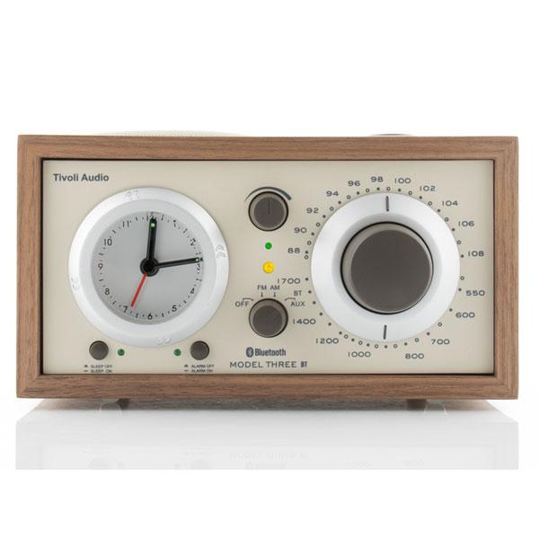 Model Three BT(モデル・スリー ビーティー)Bluetooth対応モデル ウォールナット×ベージュ アラームクロックラジオ/Tivoli Audio(チボリオーディオ)