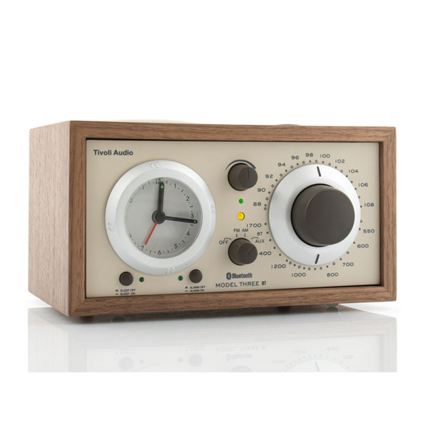 Model Three BT Generation2(モデル・スリー ビーティー)Bluetooth対応モデル ウォールナット×ベージュ アラームクロックラジオ/Tivoli Audio(チボリオーディオ)