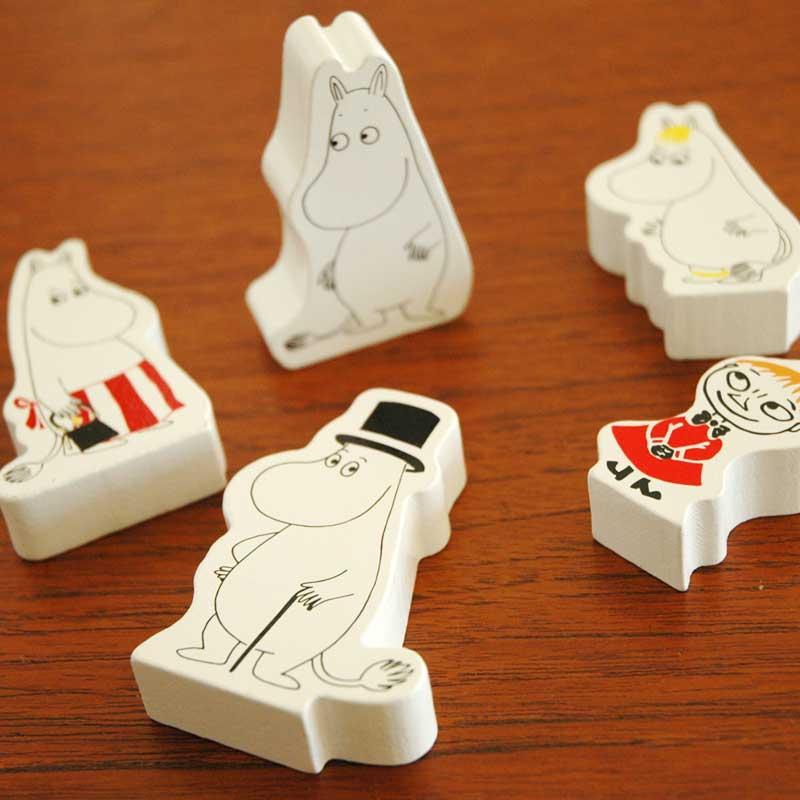 ムーミン・木製人形5個セット Barbo Toys(バルボトイズ)ムーミングッズ 北欧デンマーク