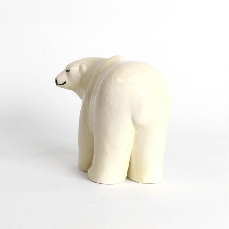 Polar Bear(シロクマ)・ミディアムサイズ SKANSENシリーズ Lisa Larson(リサ ラーソン) 北欧オブジェ・置物