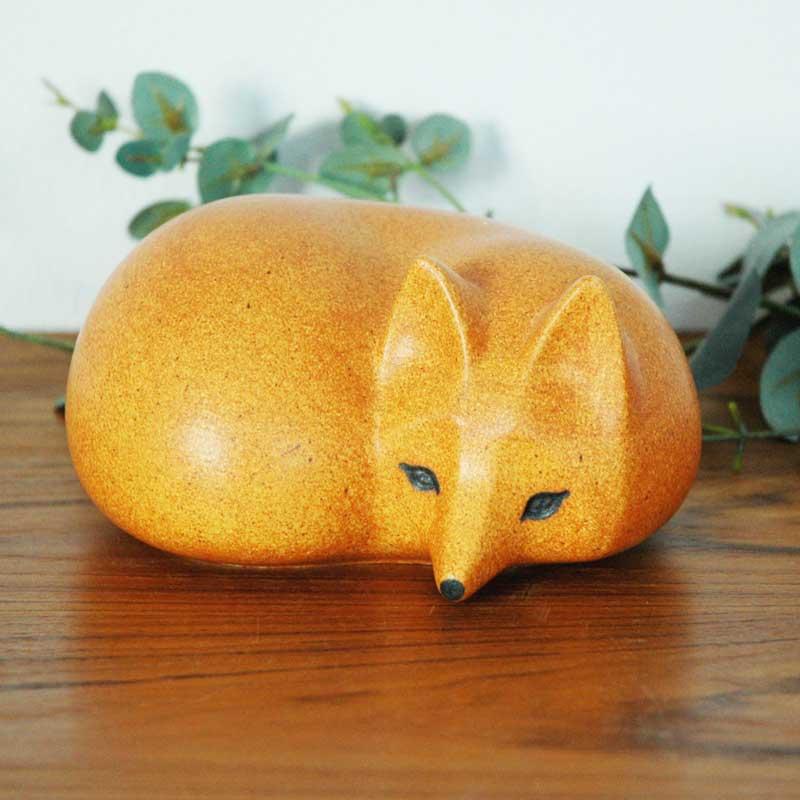 FOX(キツネ)ミディアムサイズ SKANSEN(スカンセン動物園)シリーズ Lisa Larson(リサ ラーソン)オブジェ・置物