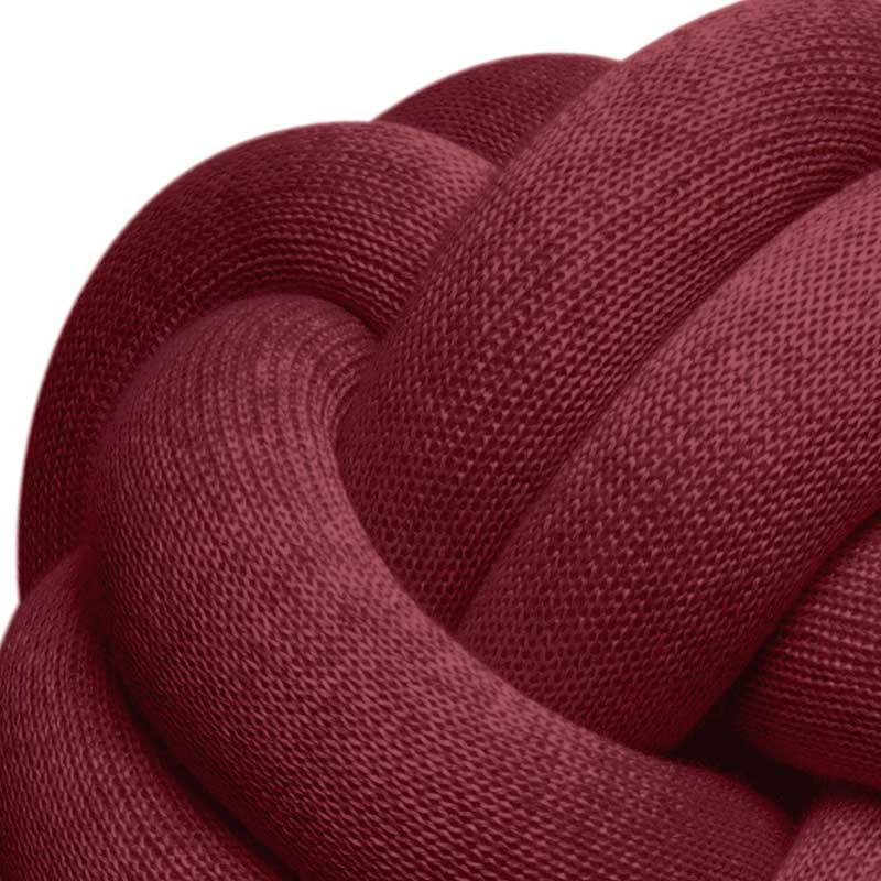 Knot Cushion(ノットクッション)30cm Bordeaux(アボルドー)ワイン色  DESIGN HOUSE stockholm(デザインハウス ストックホルム)