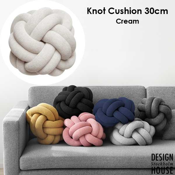 Knot Cushion(ノットクッション)30cm Cream(クリーム)DESIGN HOUSE stockholm(デザインハウス ストックホルム)